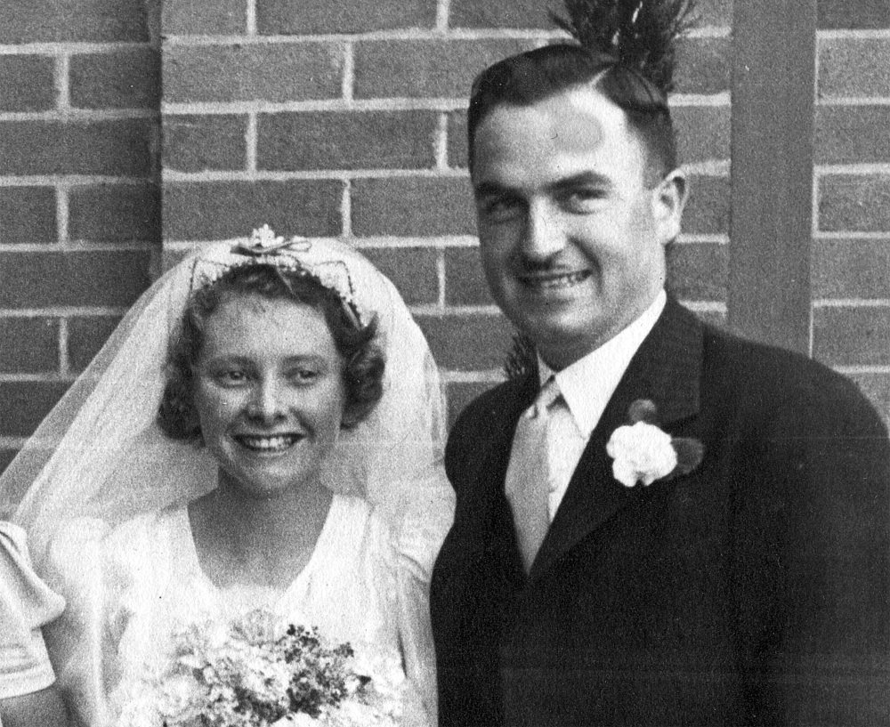 Joyce and Wal's wedding photo from 1940