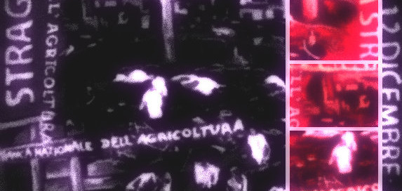 poster depicting piazza fontana massacre