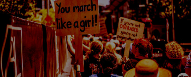 Canberra womens' march placard saying 'march like a girl'