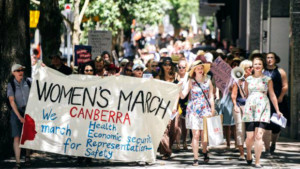 women's march in Canberra